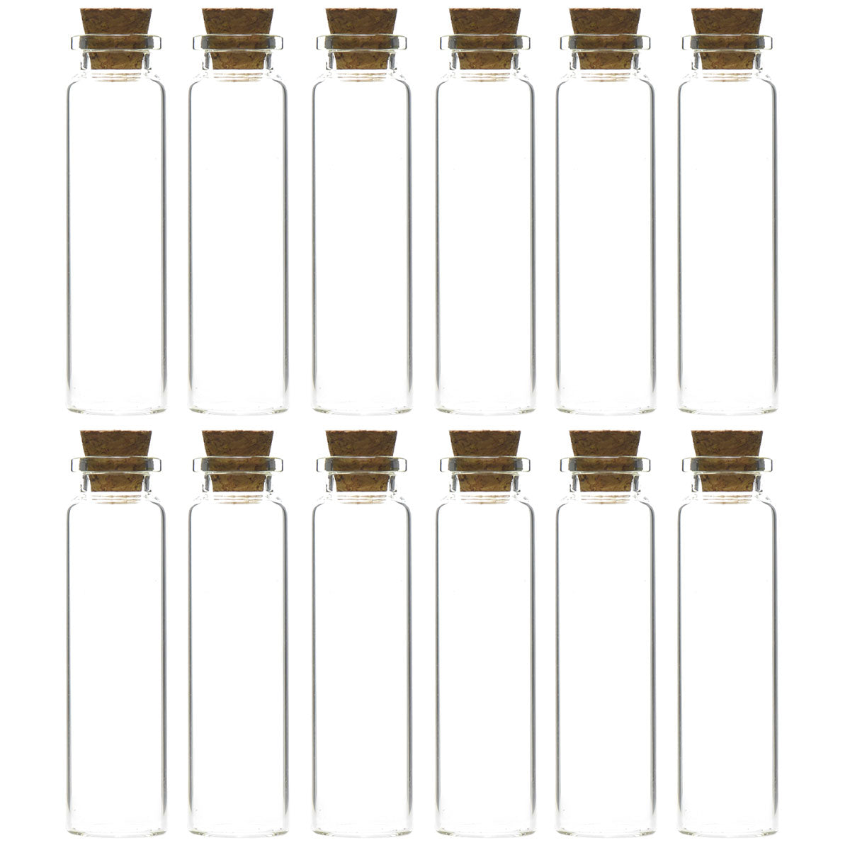 Mini Transparent Glass Bottles,Jars with Cork Stoppers for Scents, Oils, Spices, Collections, Wedding, Jewelry, Message, Party Favors etc