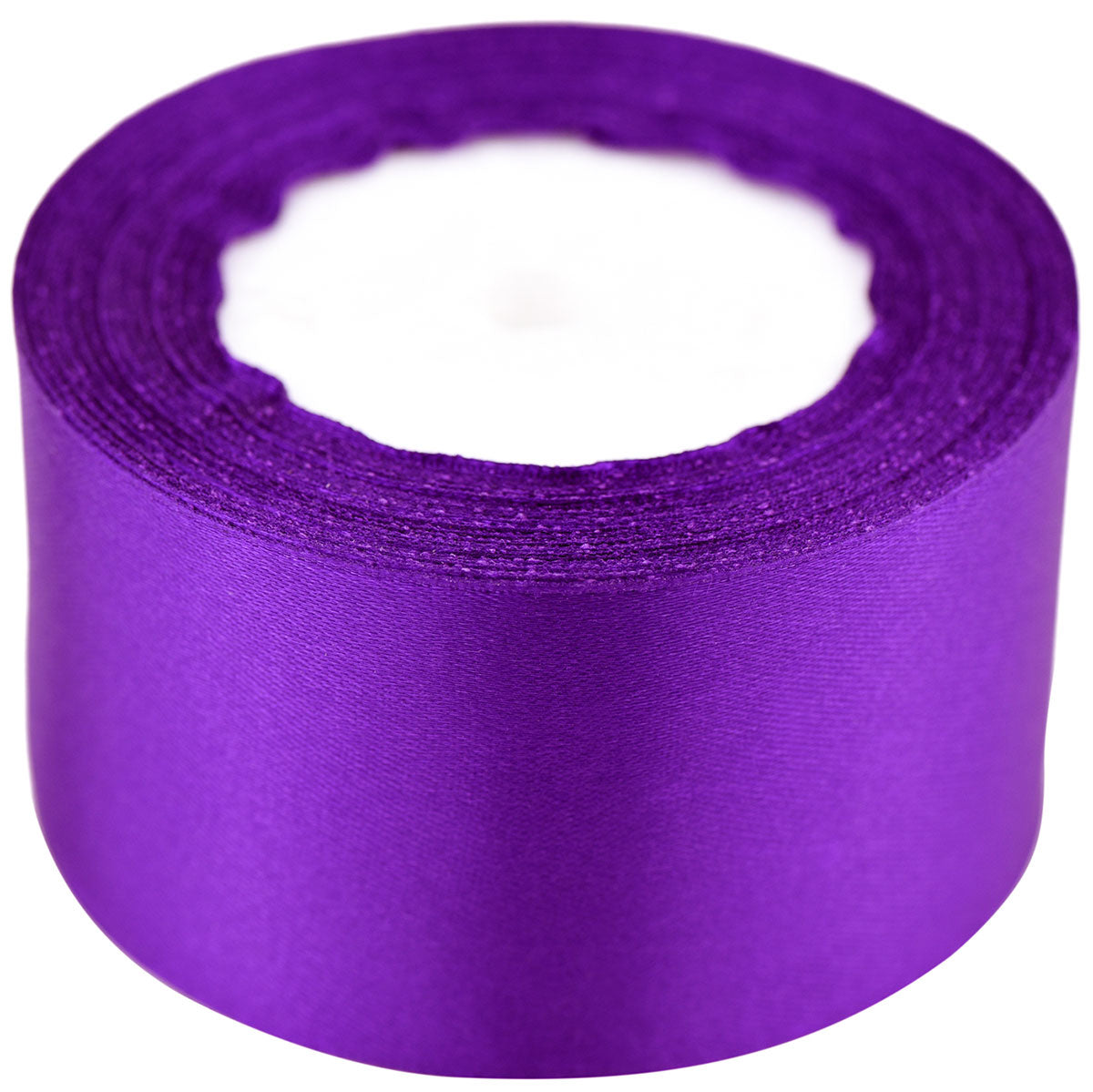 40mm Purple Single Sided Satin Ribbon