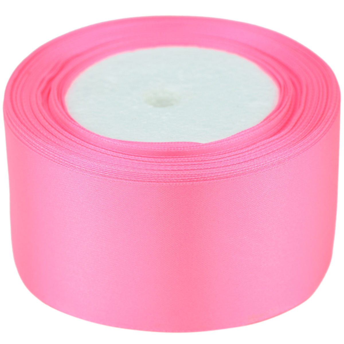 50mm Pink Single Sided Satin Ribbon