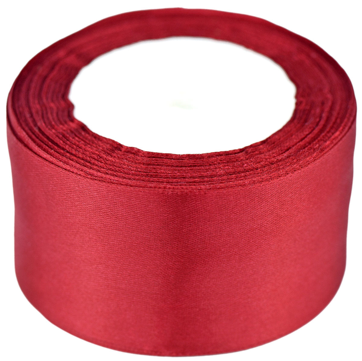 40mm Red Wine Single Sided Satin Ribbon