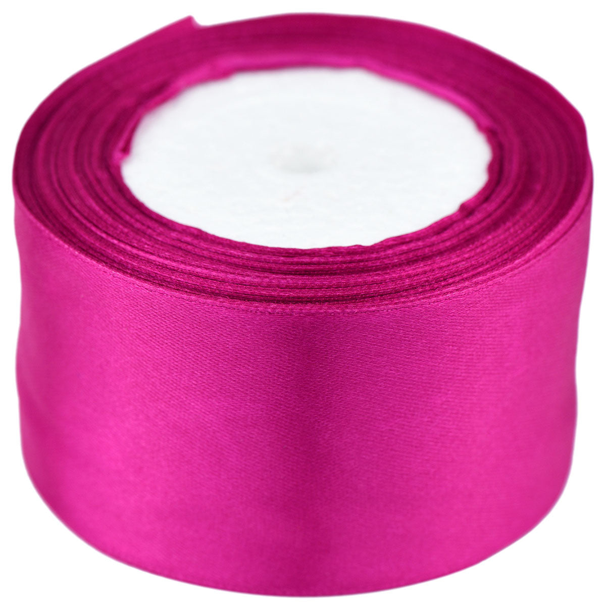 50mm Amaranth Single Sided Satin Ribbon