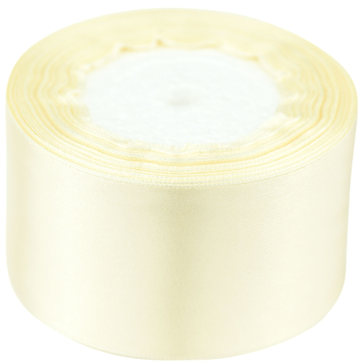 40mm Beige Single Sided Satin Ribbon