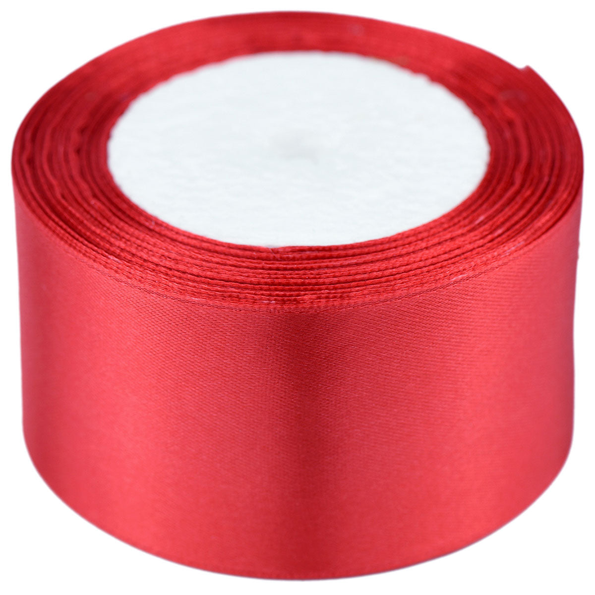 50mm Red Single Sided Satin Ribbon