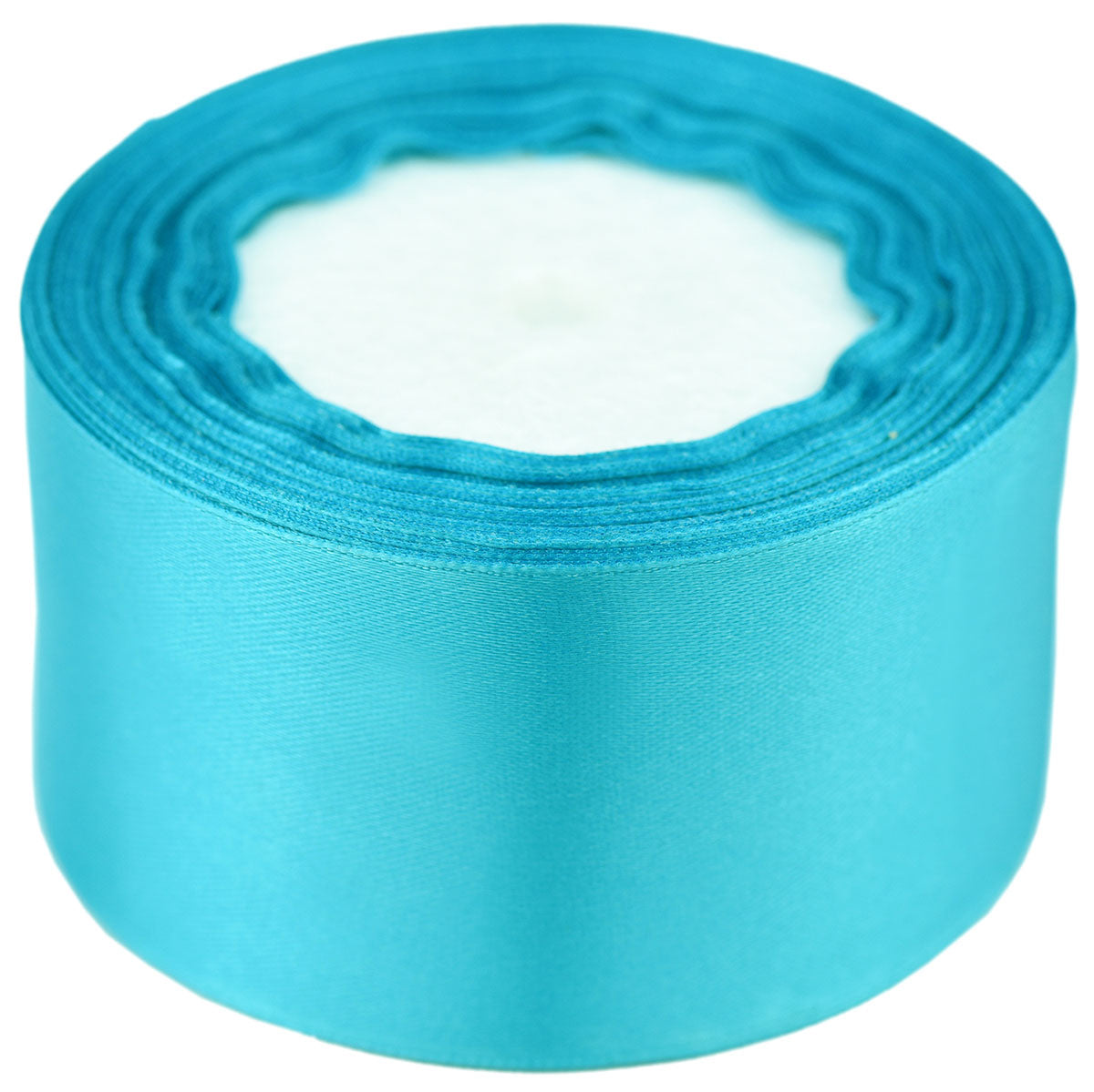 40mm Turquoise Single Sided Satin Ribbon