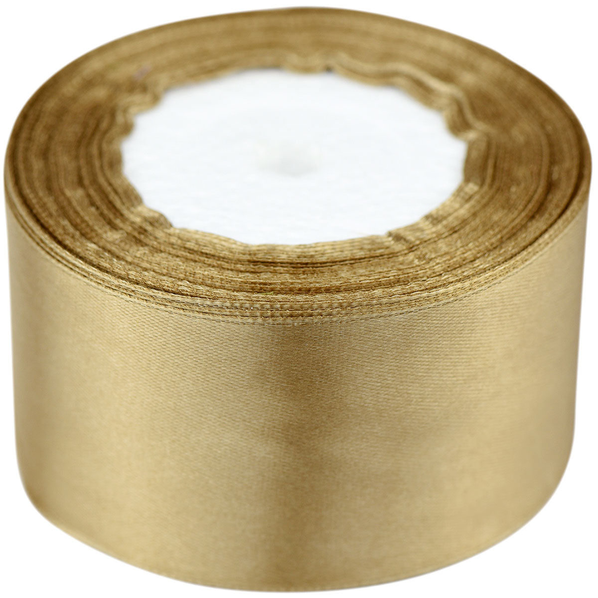 40mm Light Brown Single Sided Satin Ribbon