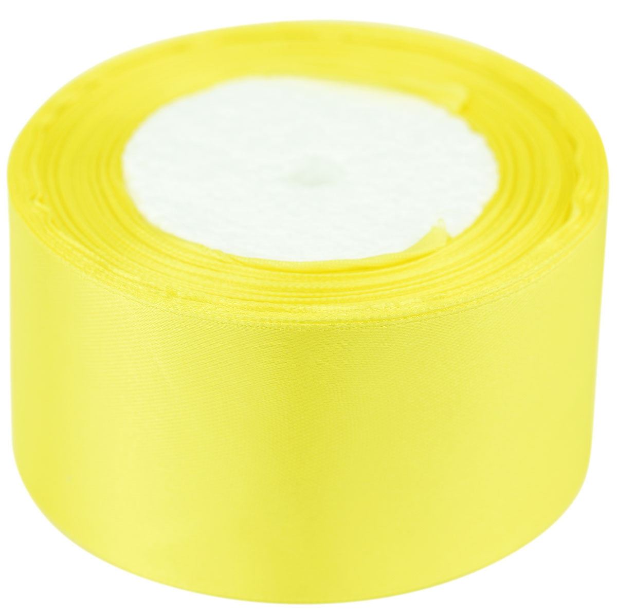 40mm Lemon Single Sided Satin Ribbon