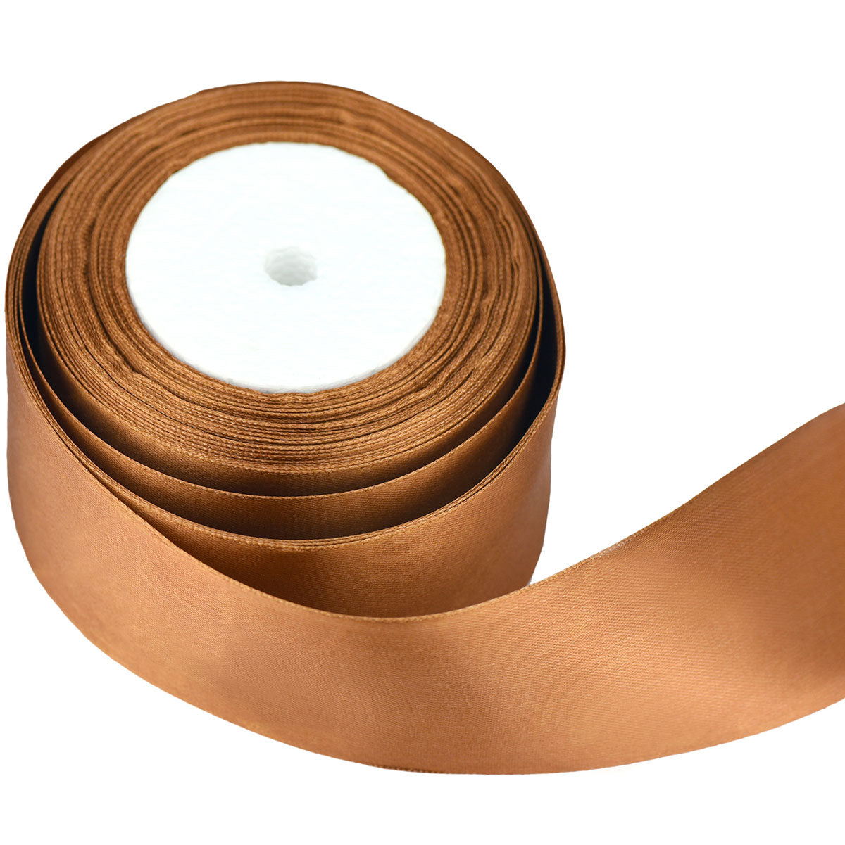 50mm Brown Single Sided Satin Ribbon