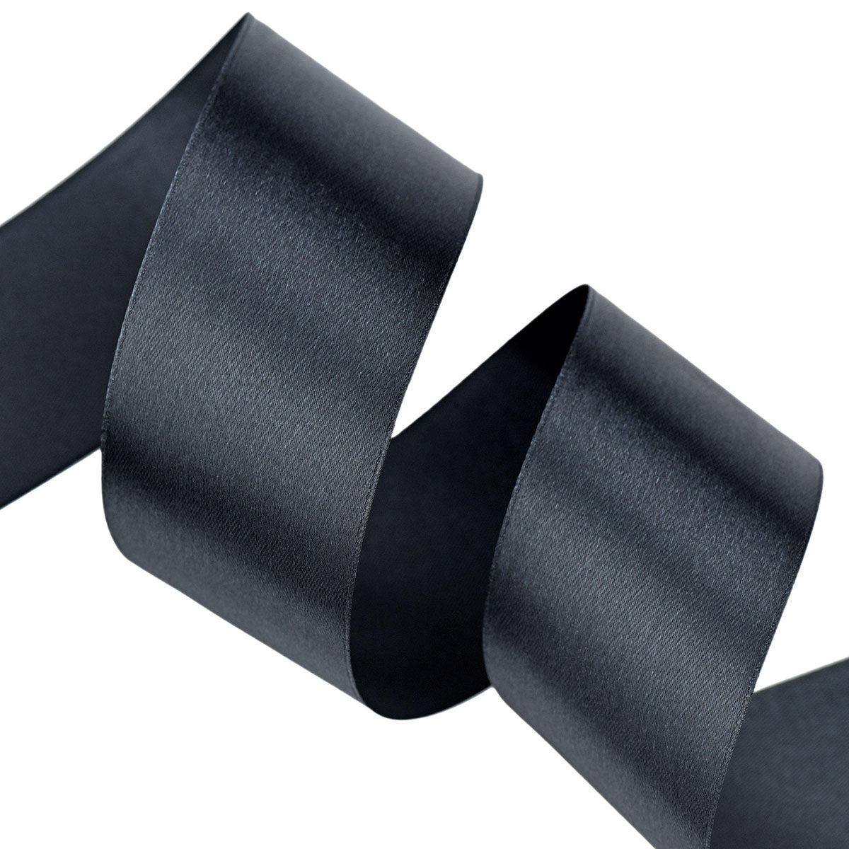 50mm Black Single Sided Satin Ribbon