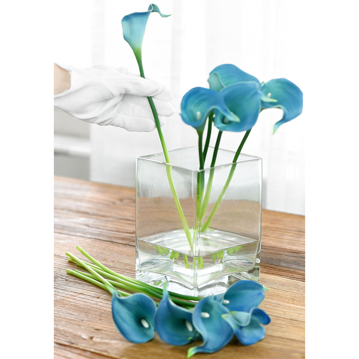 Ocean Radiance Real Touch Calla Lilies Artificial Flower Bouquet 10 Stems