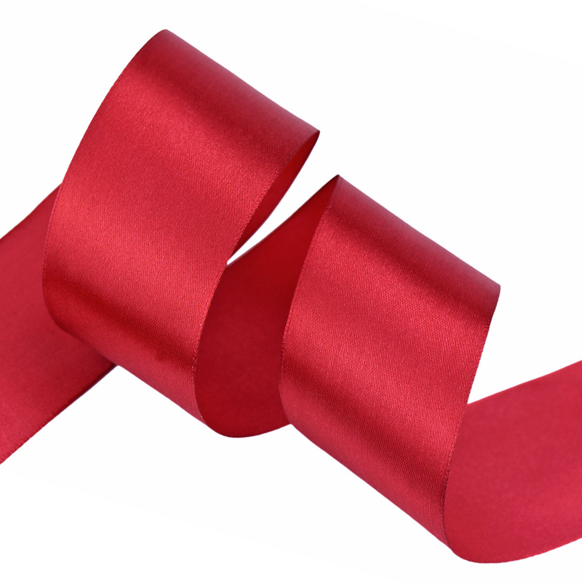50mm Red Wine Single Sided Satin Ribbon