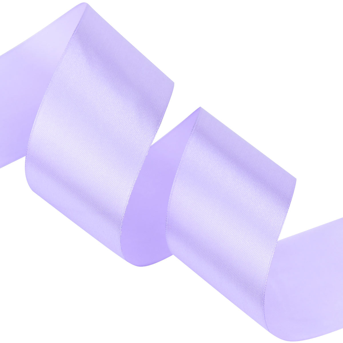 40mm Lilac Single Sided Satin Ribbon
