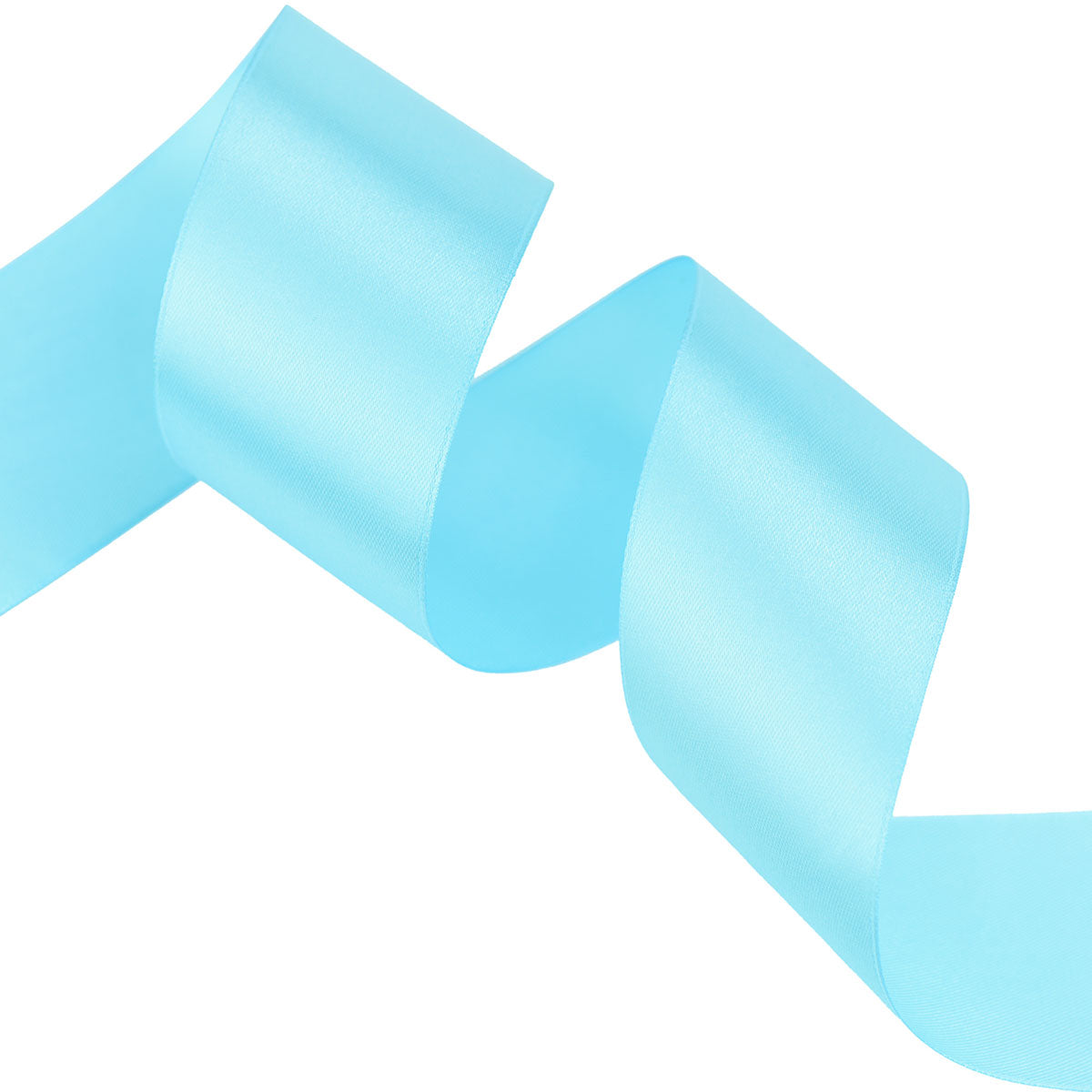 50mm Light Blue Single Sided Satin Ribbon