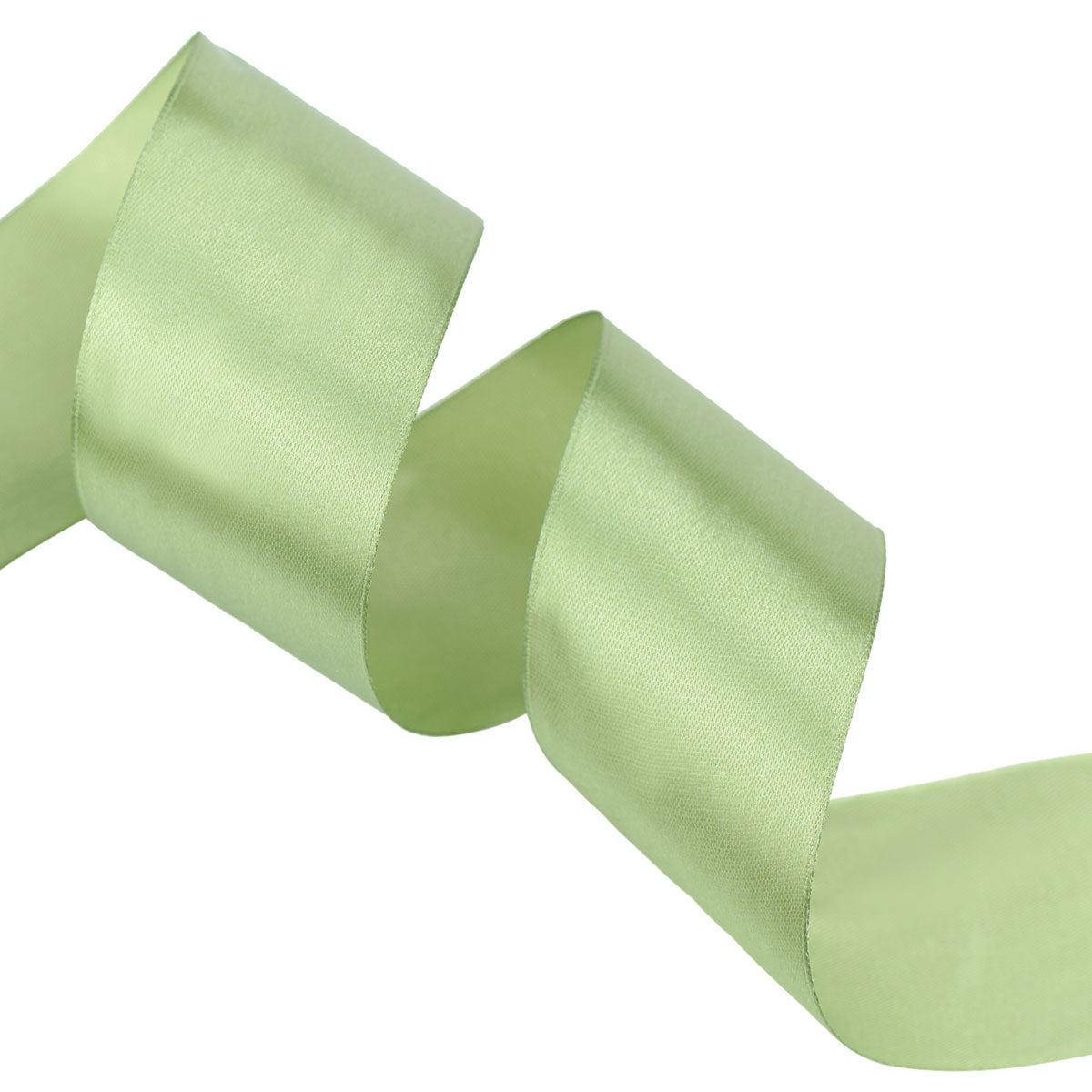 40mm Olive Green Single Sided Satin Ribbon