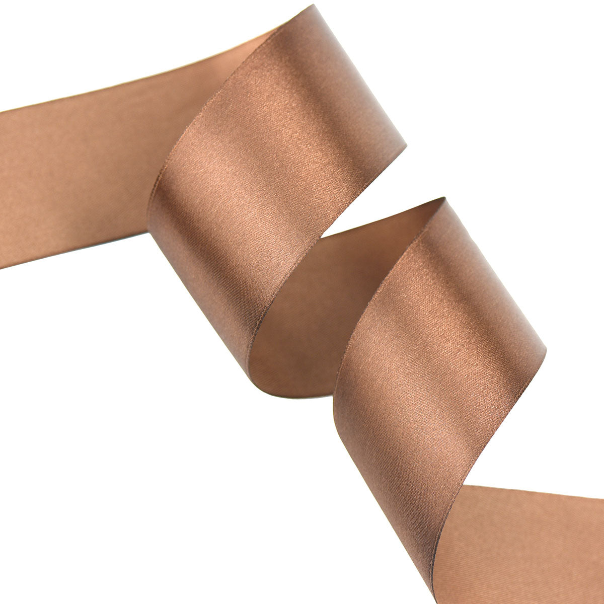 50mm Chocolate Single Sided Satin Ribbon