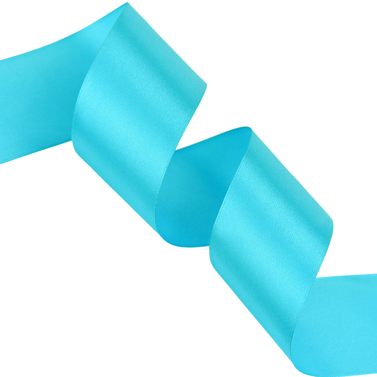 50mm Turquoise Single Sided Satin Ribbon