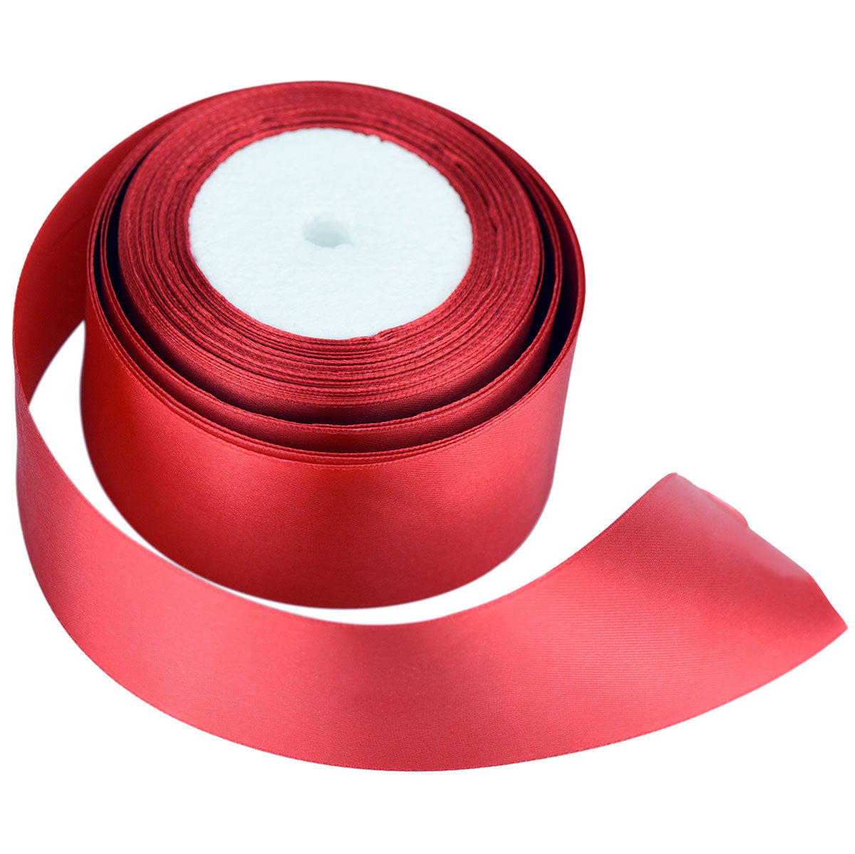 40mm Red Single Sided Satin Ribbon