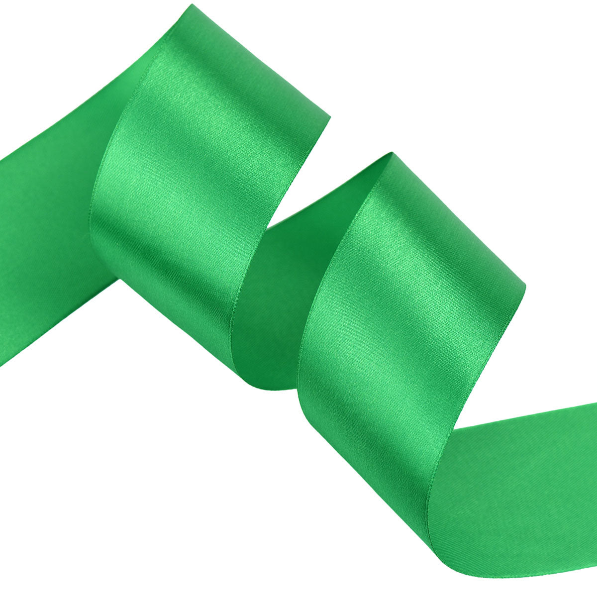 40mm Green Single Sided Satin Ribbon