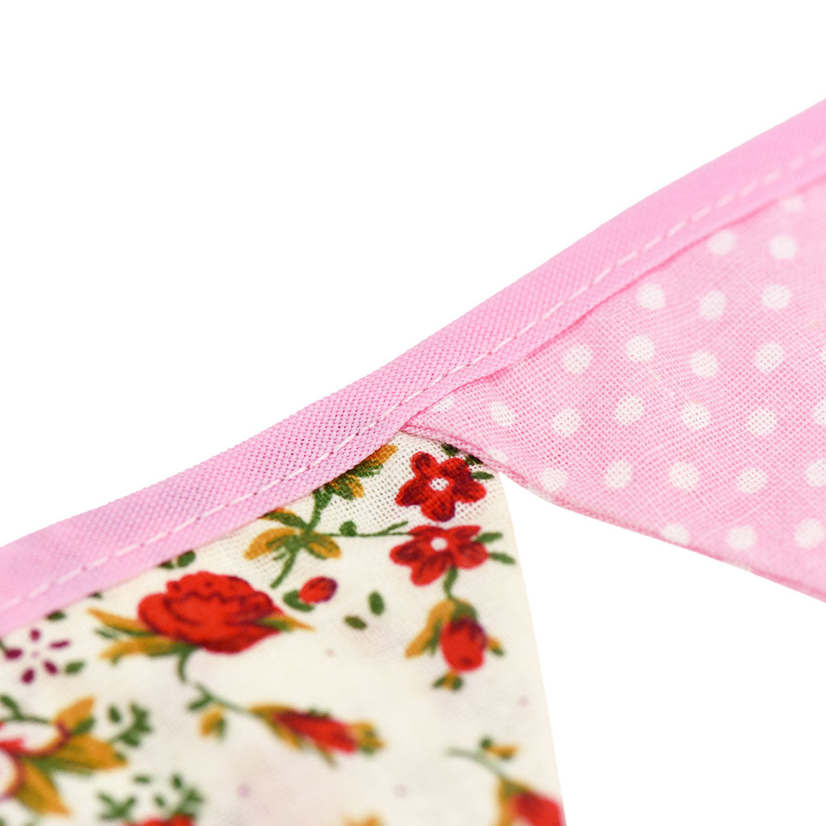 2 Pink Cotton Pennant Banners