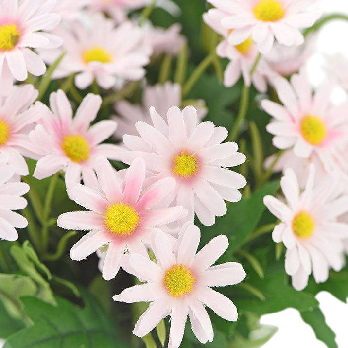 Daisy Silk Flowers Outdoor Artificial Flowers Arrangements (Lemonade Pink) 2 Bunches