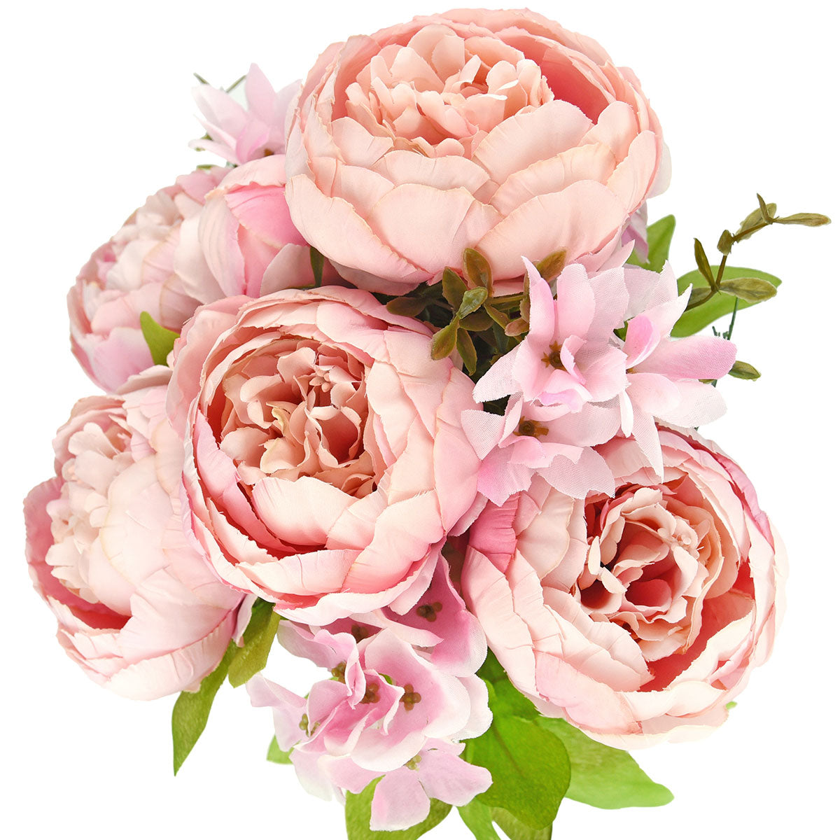 Pink Silk Peonies Artificial Flower Bouquet