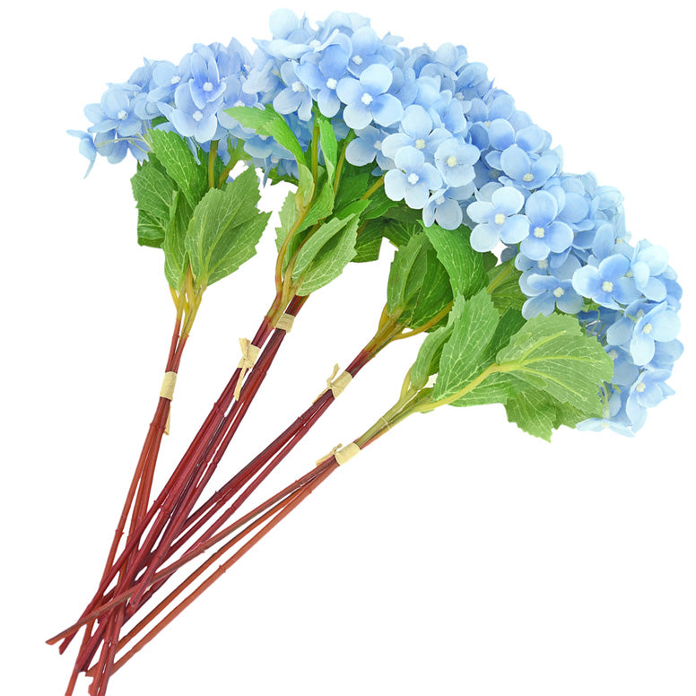 FiveSeasonStuff 15 Stems of 32cm (12.6'') Mini Artificial Hydrangea Flowers, Bouquet, Floral Arrangement, Perfect for Wedding, Bridal, Party, Home, Shop, Office Décor, DIY Floral Arrangement Decoration