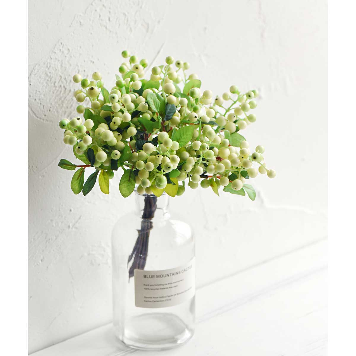 10 Stems Artificial Green Berry Bouquet 9.8 Inches (25cm)