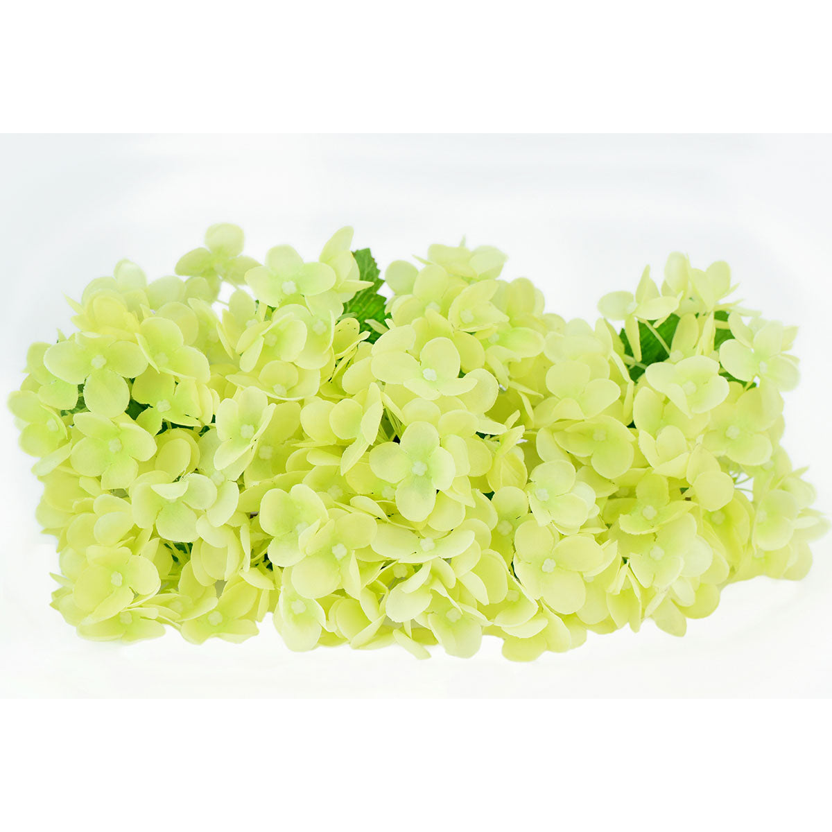 FiveSeasonStuff 15 Stems of 32cm (12.6'') Mini Artificial Hydrangea Flowers(Pale Green), Bouquet, Floral Arrangement, Perfect for Wedding, Bridal, Party, Home, Shop, Office Décor, DIY Floral Arrangement Decoration