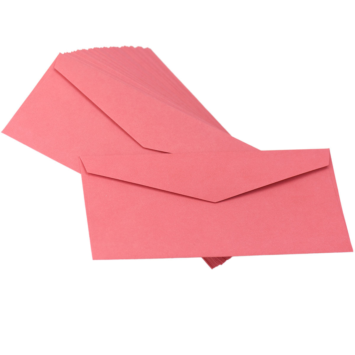 50 Red Kraft Paper Letter Envelopes