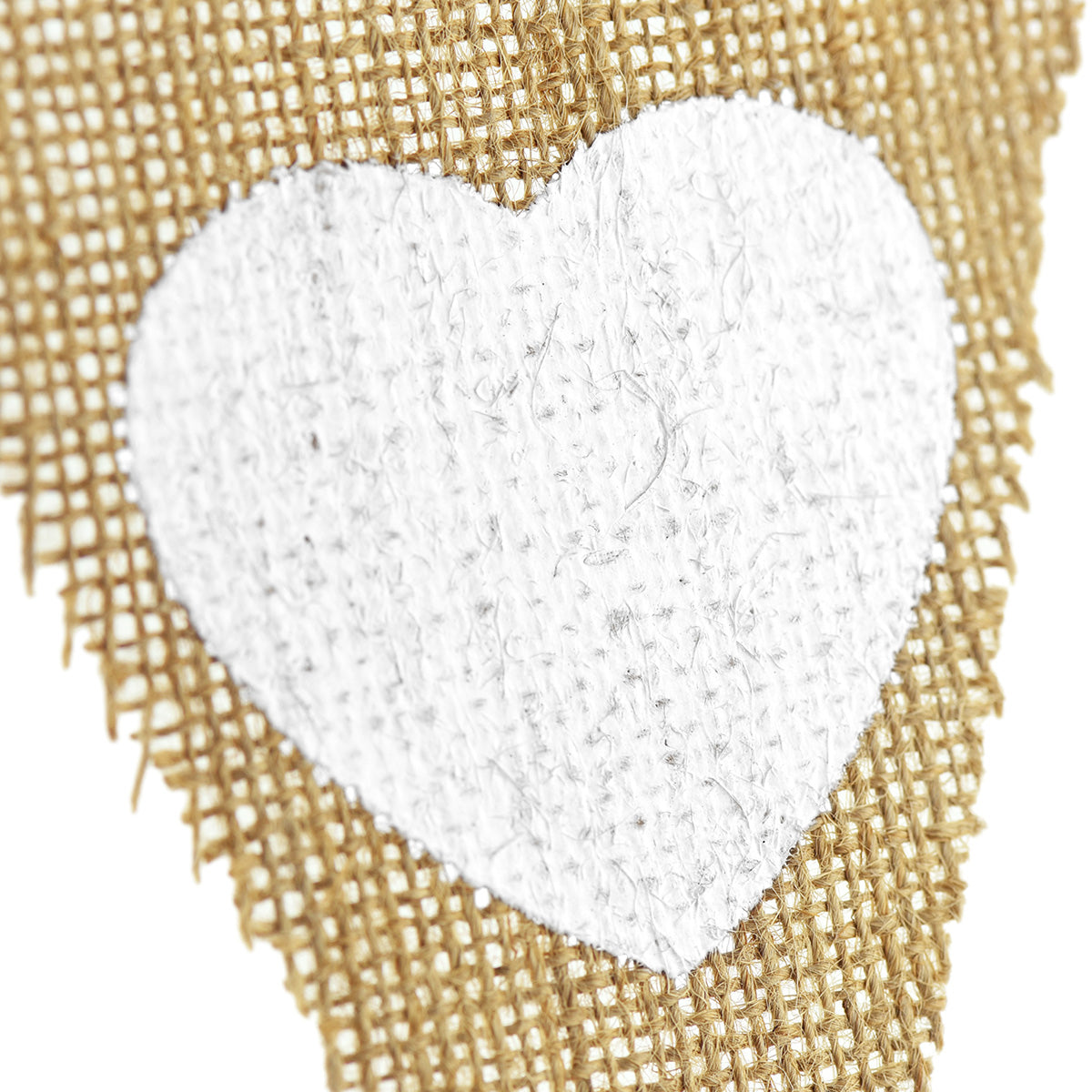 Burlap Pennant Banner with Heart Patterns - FiveSeasonStuff