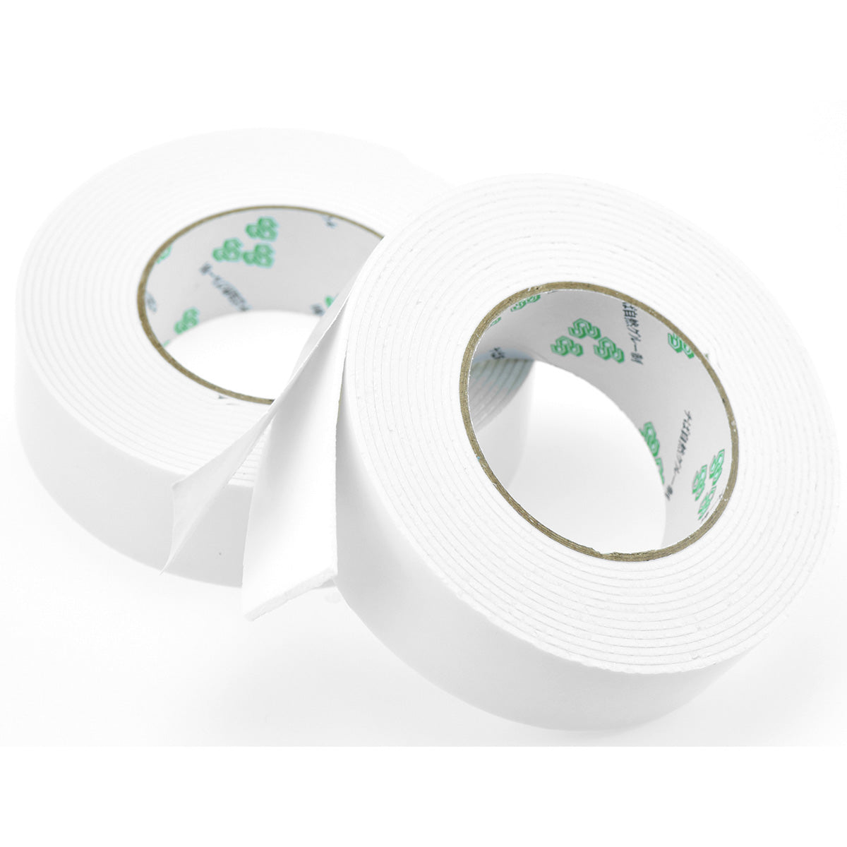 Pack of 2 Double Sided White Foam Tape Very Sticky Leaves Residue