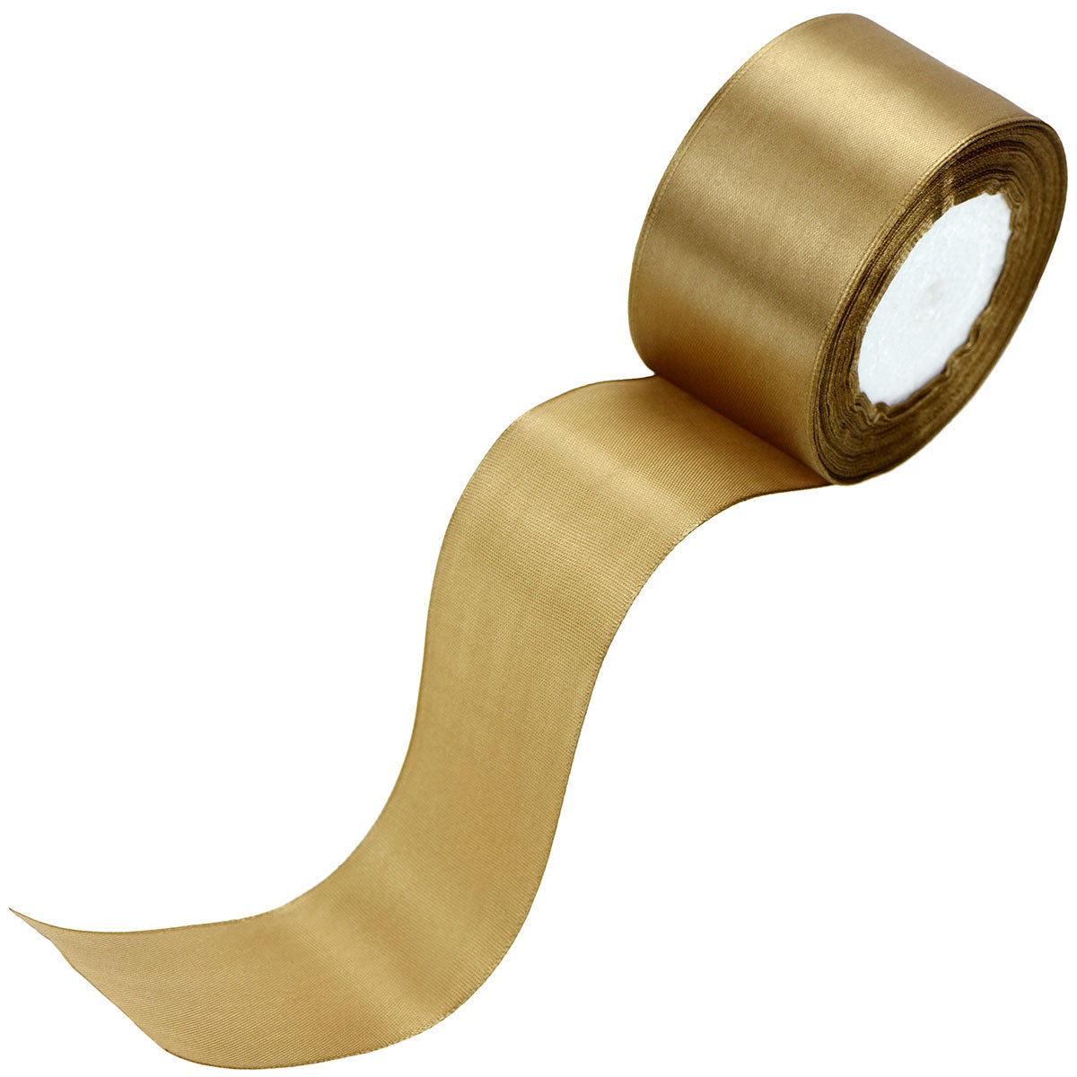 50mm Light Brown Single Sided Satin Ribbon