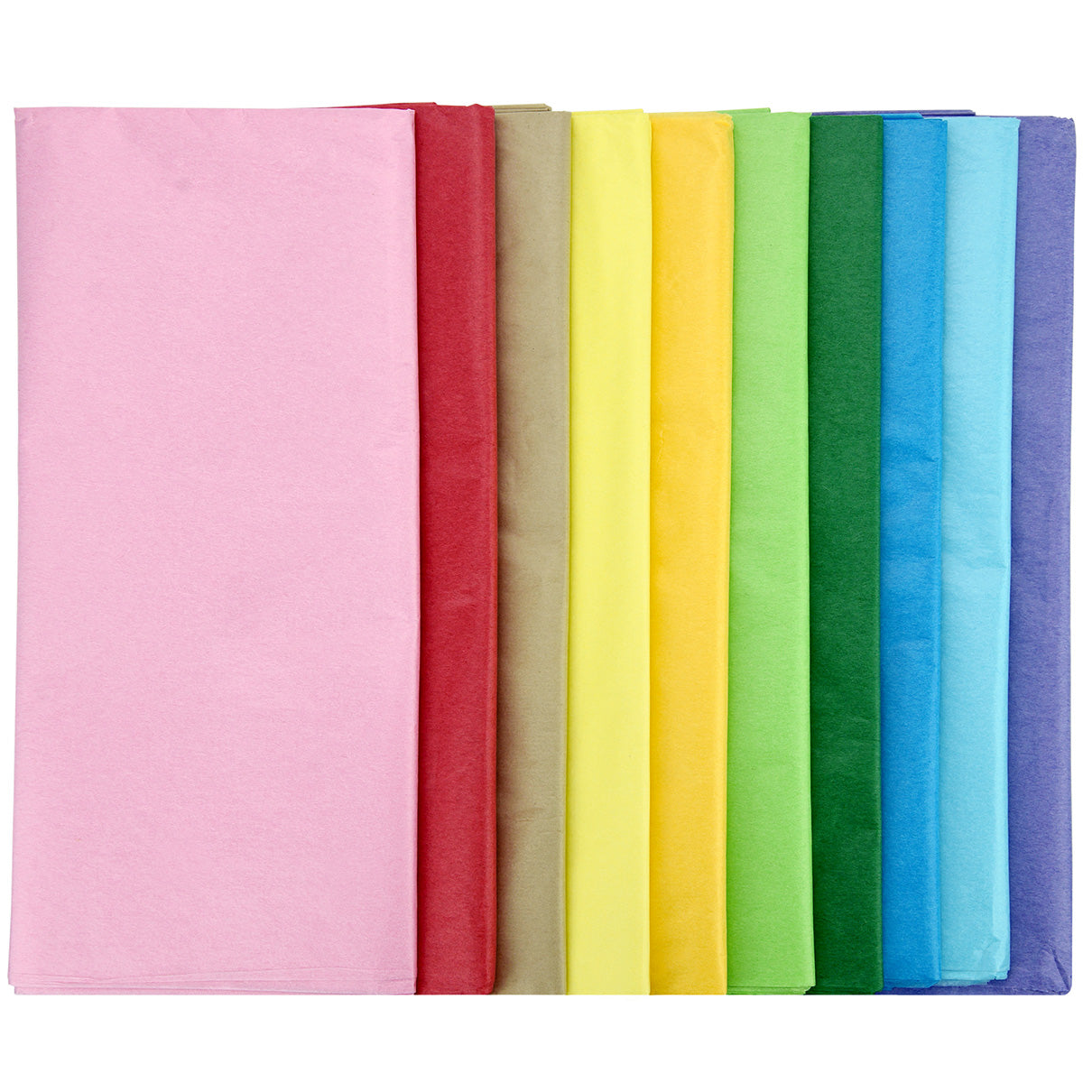 100 Sheets Wrapping Tissue Paper (Mixed 10 Colors)