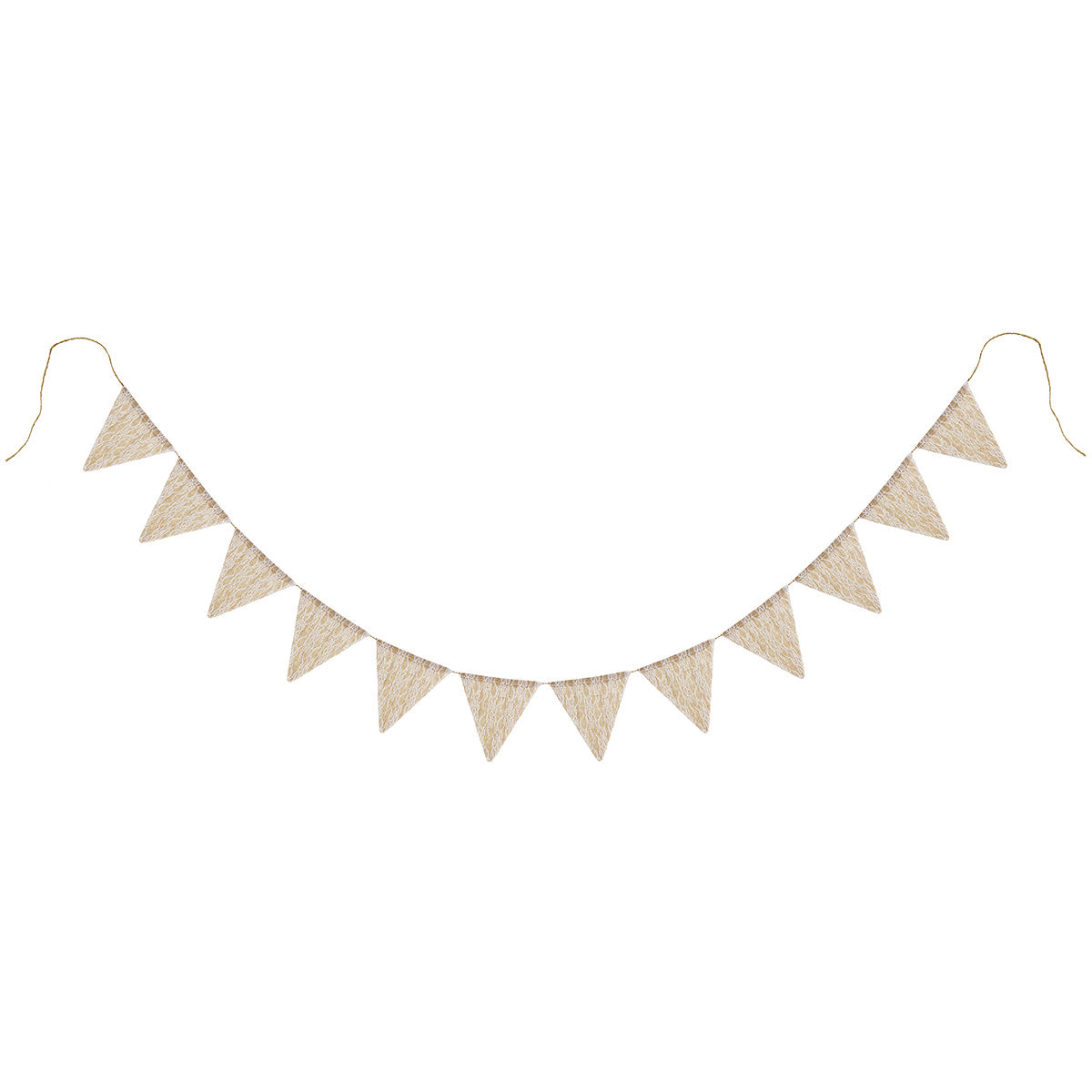 Burlap with Lace Pennant Banner