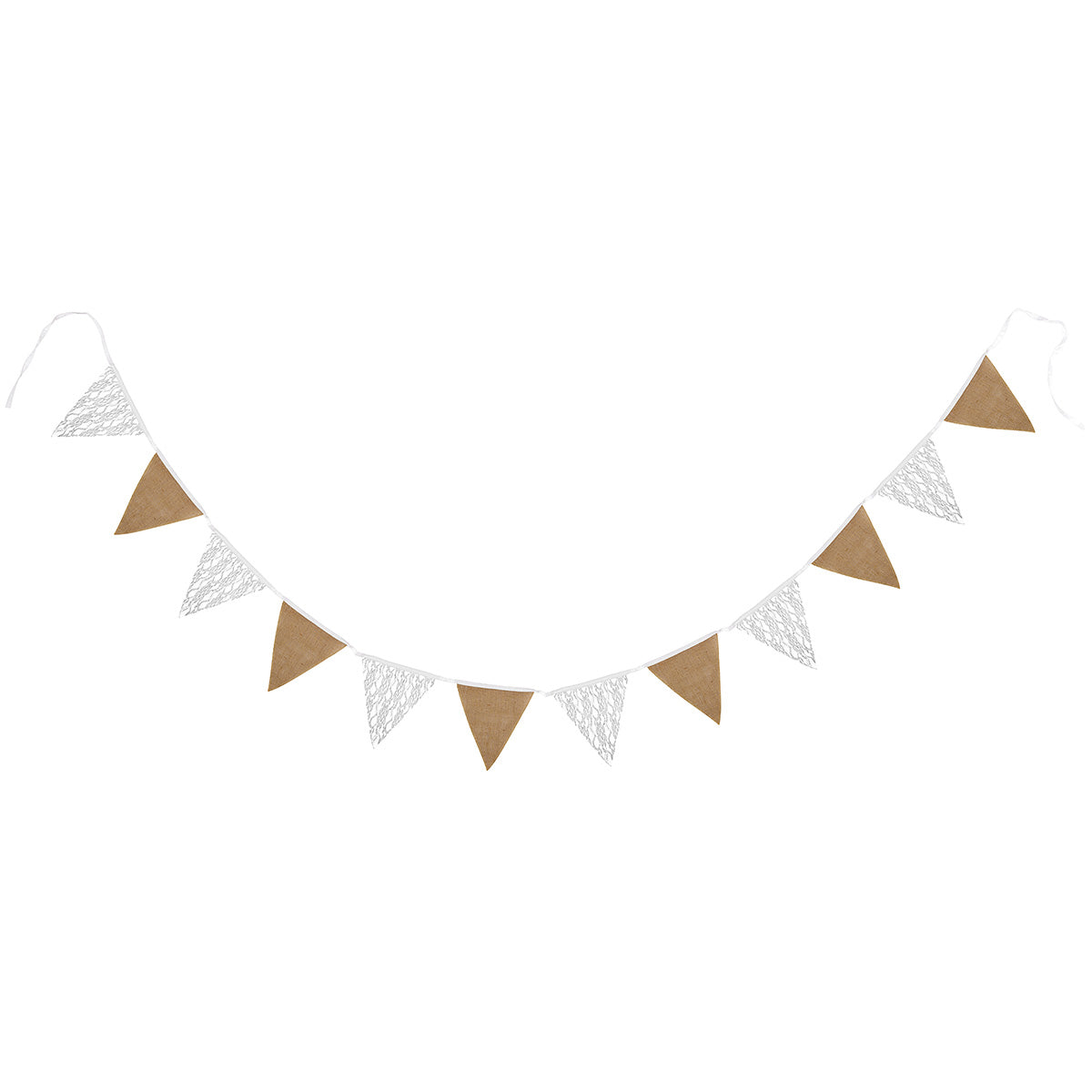Burlap and Lace Pennant Banner