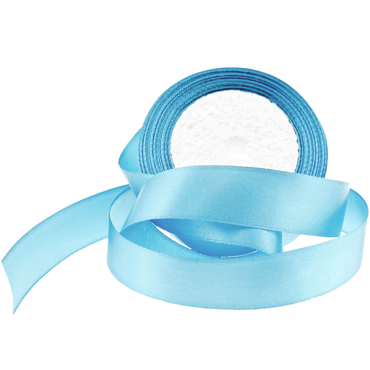 25mm Light Blue Single Sided Satin Ribbon