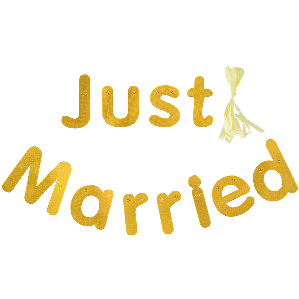 Gold 'Just Married' Wedding Banner