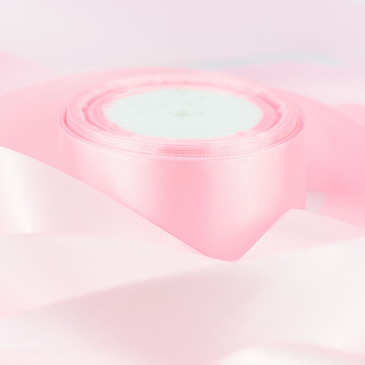 50mm Light Pink Single Sided Satin Ribbon