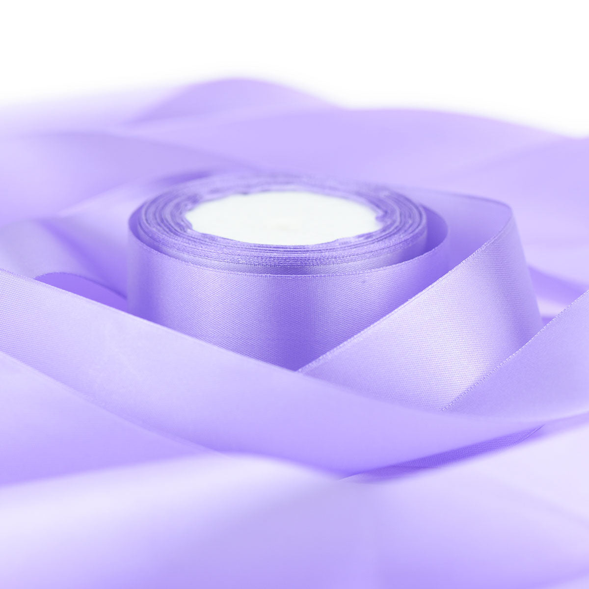 50mm Lilac Single Sided Satin Ribbon