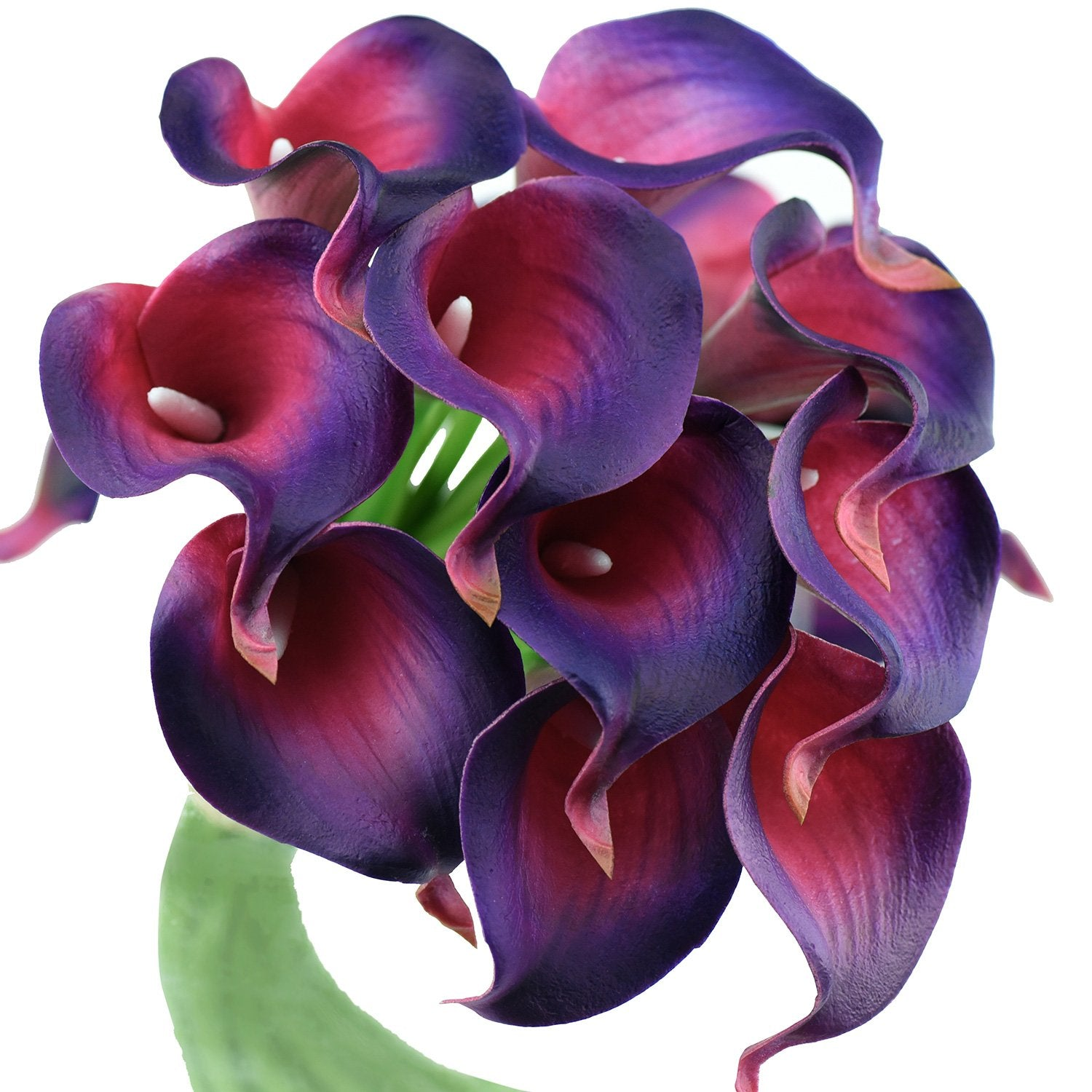 Nebula Purple Real Touch Calla Lilies Artificial Flower Bouquet 10 Stems