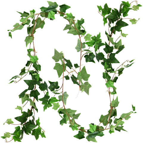 FiveSeasonStuff 2 Pcs Ivy Garland Artificial Silk Leaf Vine Hanging Garland for Wall Decoration, Wedding, Bridal, Wreaths
