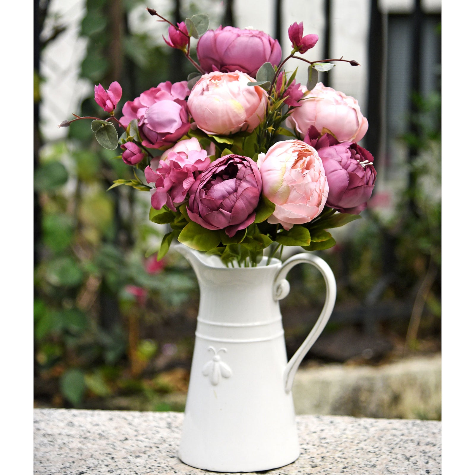 FiveSeasonStuff (Mixed Fandango)Silk Peonies Artificial Flower Bouquet