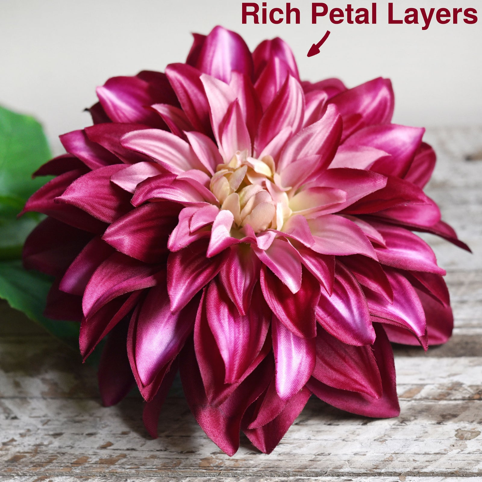 FiveSeasonStuff Artificial Flowers Dahlia Silk Flowers for Outdoors Indoors and Tall Vases (French Pink)