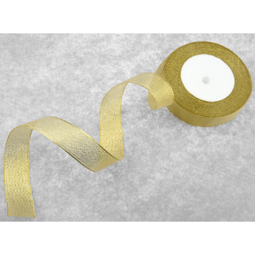 20mm Gold Metallic  Single Sided Ribbon