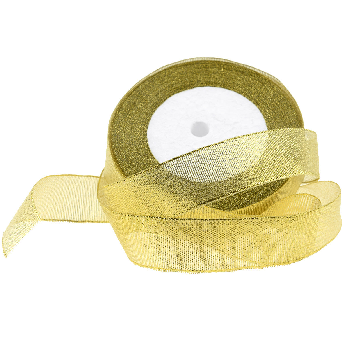 25mm Gold Metallic  Single Sided Ribbon