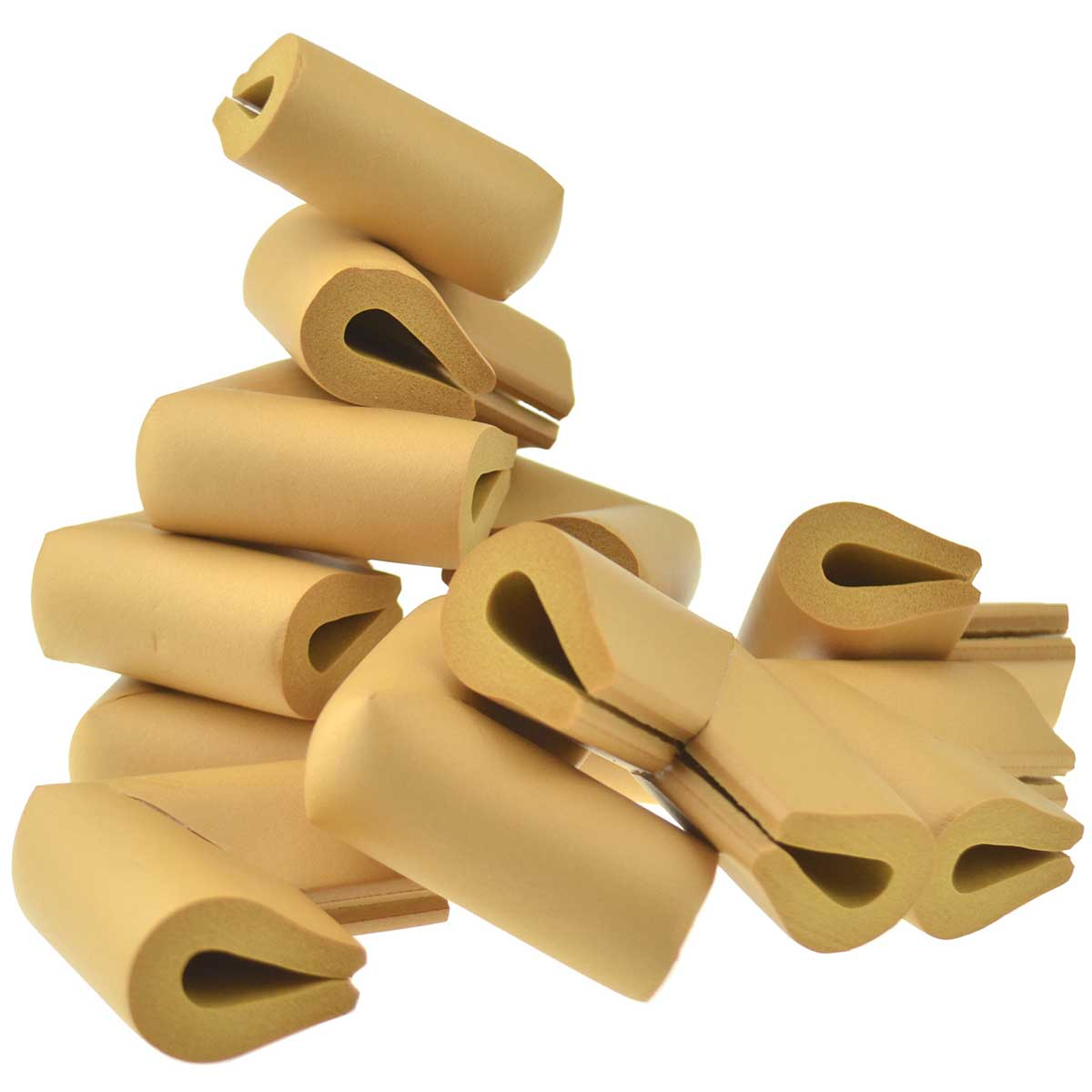 12 Pieces Ginger U-Shaped Foam Corner Protectors