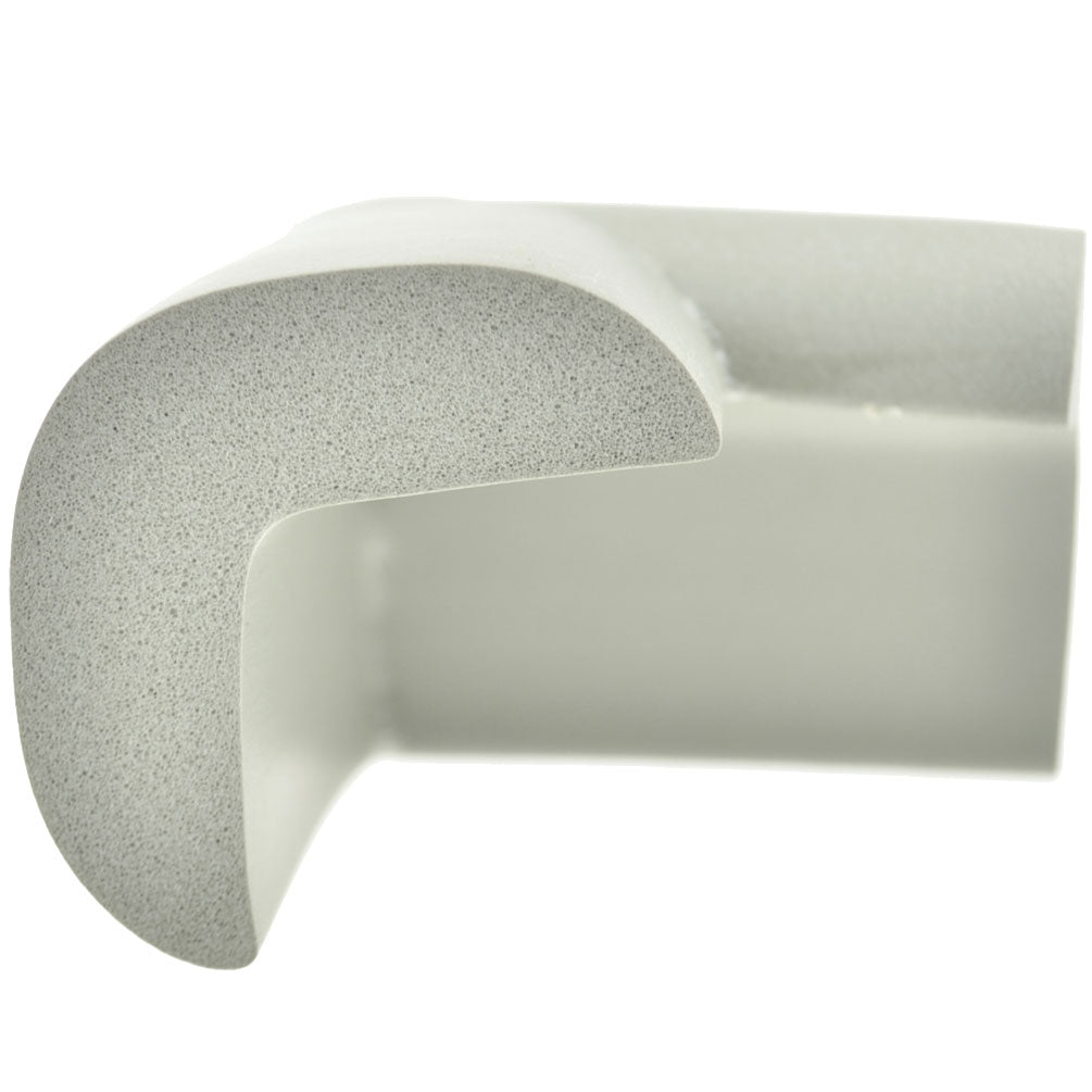 12 Pieces Gray Jumbo L-Shaped Foam Corner Protectors
