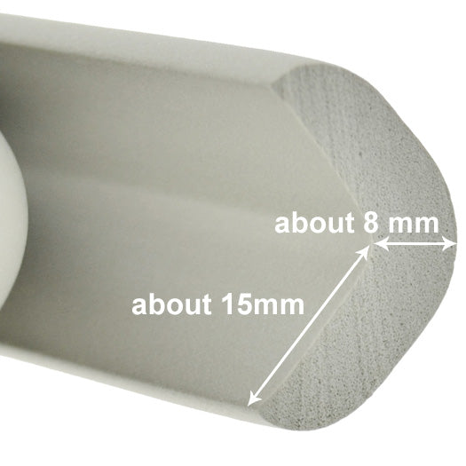 1 Roll Gray Standard L-Shaped Foam Edge Protector 78.7 inches (2 meters)