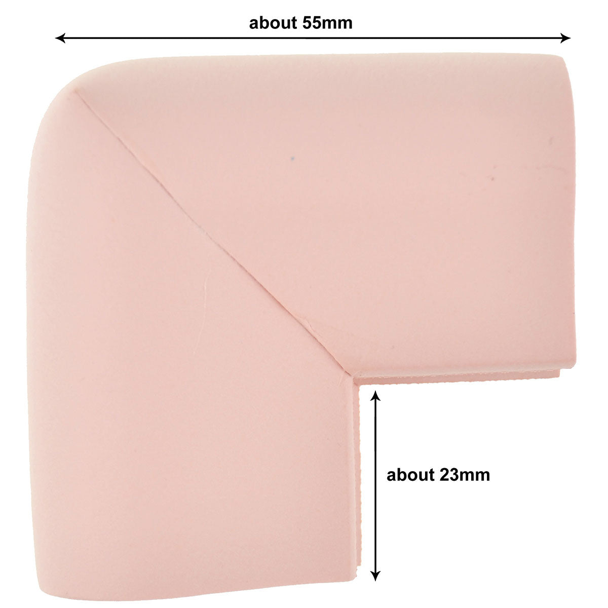 12 Pieces Pink U-Shaped Foam Corner Protectors