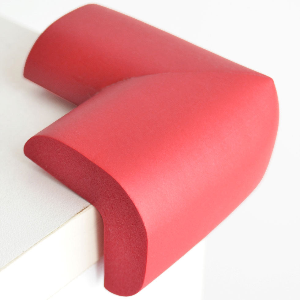 12 Pieces Red Jumbo L-Shaped Foam Corner Protectors