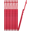 10 Red Y-Shaped Tent Stakes with Latch Points